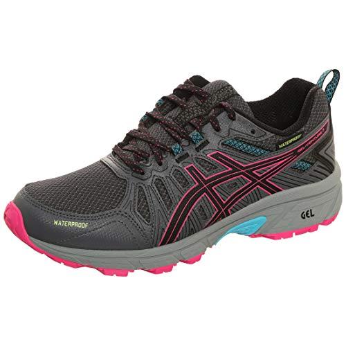 ASICS Gel-Venture 7 WP Trail Laufschuh Damen schwarz/pink, 40 EU - 8.5 US
