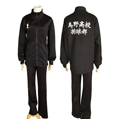 Ruleronline Haiky? !! Karasuno High School Haikyu Teil Hinata Shoyo Karasuno Trikot mit langen aermeln Uniform Karasuno High-School-Uniform Cosplay Groesse (Hinata Uk Cosplay)