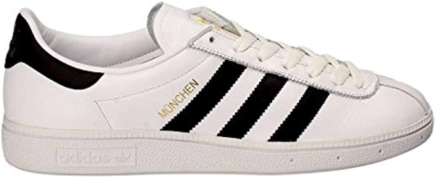 Adidas - Munchen - BY1725 - Color: Blanco-Negro - Size: 39.3  -