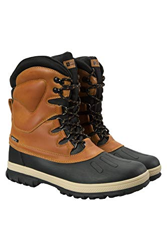 Mountain Warehouse Arctic Mens Waterproof Snowboots - Fast Dry Mens Shoes, Quick Wicking Winter Duck Boots, Warm Footwear, Flat Shoe Laces - for Travelling, Snow, Hiking