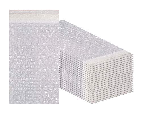 Amiff Luftpolsterbeutel, 4 x 7,5 cm, transparent, gepolstert, 4 Stück 20 Stück Luftpolsterbeutel. Selbstdichtend. Versand Versand Verpackung Verpackung Lagerung und Umzug