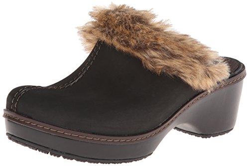 Crocs Cobbler Fuzz Clog Mahogany/Black