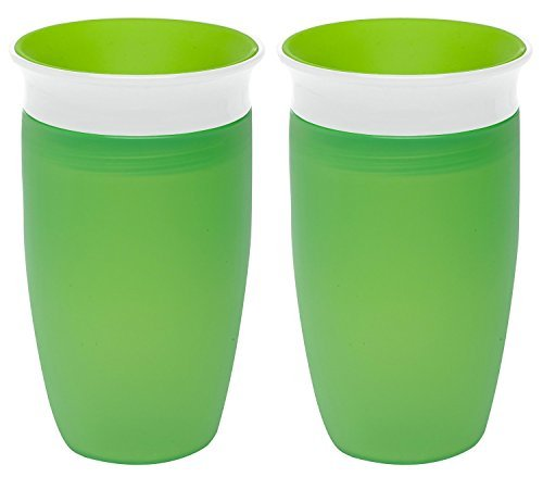 Munchkin Miracle 360 Sippy Cup, Green, 10 Ounce, 2 Count by Munchkin Green 10