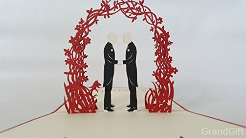 Gay Wedding Day 3D Pop up Grußkarten Jahrestag Baby Geburtstag Ostern Halloween Mutter Vater New Home NEW YEAR Thanksgiving Valentine Hochzeit Weihnachten