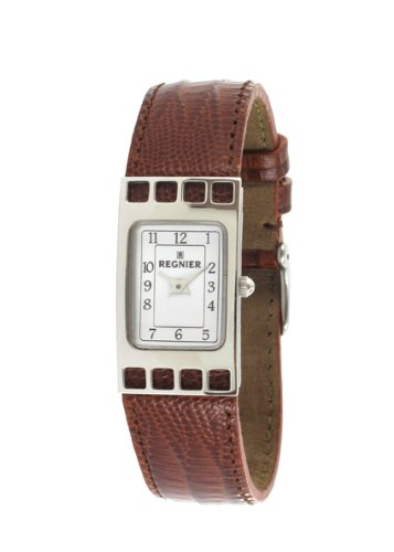 Régnier Cadrage Ladies Analog Watch 2070242 with Brown Leather Strap