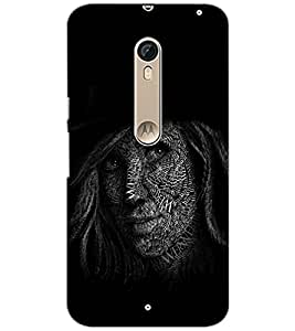 PrintDhaba QUOTE FACE D-6151 Back Case Cover for MOTOROLA MOTO X PURE EDITION (Multi-Coloured)