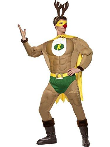 Super Rentier Muskelanzug Weihnachten Rentierman Superheld GrM