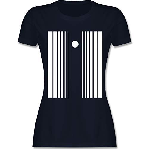 Karneval & Fasching - Doppler-Effekt - S - Navy Blau - L191 - Damen T-Shirt ()