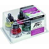 Daler-Rowney FW 29.5ml Acrílico Bote de tinta - Primary Colors (juego de 6)