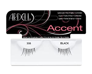 Ardell Accent Style Number 308 Eye Lashes, Black