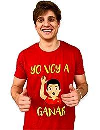 Naola design Camiseta España Mundial Hombre,Yo voy a Ganar, solidaria, Fundación Aladina
