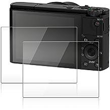 Protector de Pantalla para Cámara Sony RX100III RX100II RX100 IV RX 1R, AFUNTA 2 Paquetes Anti-Arañazos de Cristal Templado óptico para Sony RX100 Mark III DSC-RX100M5