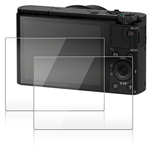 Protecteur d'écran pour Appareil Photo Sony RX 100III RX 100II RX100 IV V RX 1R, AFUNTA Pack 2 Anti-Rayures en Verre Trempé Optique