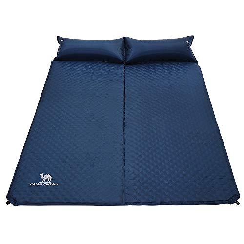 CAMEL CROWN Esterillas Auto-inflables para Acampada Colchón Camping de Ultraligero Dormir Doble de Acampada Deportes y Aire Libre Senderismo Playa Viaje