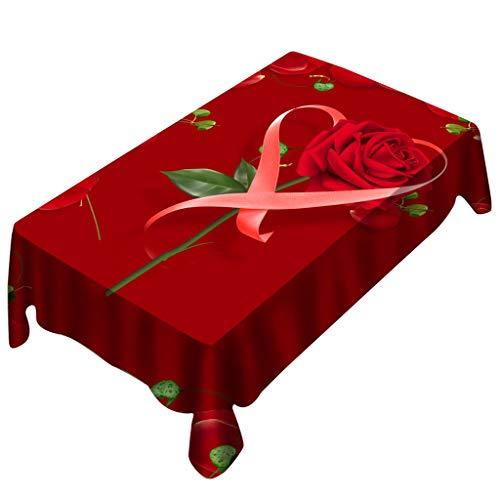 Vovotrade ❤ tovaglia per tavolo da pranzo rettangolare romantico resistente agli amanti del giorno di san valentino