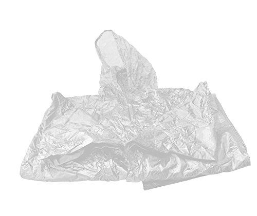 gen Poncho mit Kapuze Notfallponcho Regencape Regenmantel Regenponcho Wasserdicht Regenschutz Poncho Transparent ()