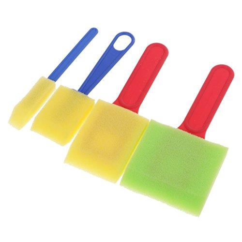 NF&E 4pcs Painting Sponge Brushes Seal Kids Painting Graffiti Drawing Tools Kit