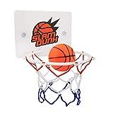Queta Mini-Basketballkorb, Dekompressions-Spielzeug, Freizeit-Sport mit Ball und Pumpe für Zuhause und Kinderzimmer