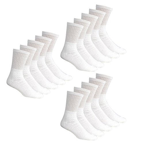 MENS 5 Pair 10 Pair Pack COTTON RICH Sport Socks Great for Gym Running Walking Outdoor Football Sports and Activity socks (7-11, 15 Pack White)