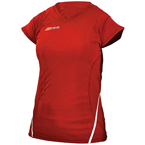 Grays G650 - T-shirt sport à manches courtes avec col en V - Femme Noir