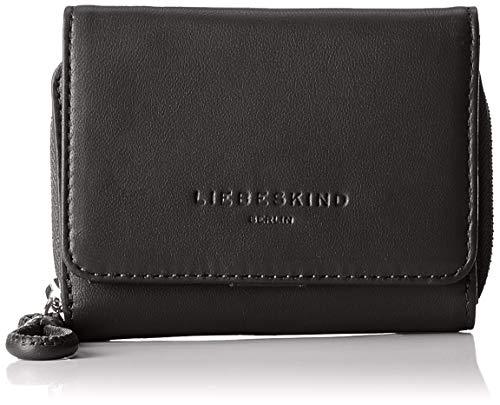 Liebeskind Berlin Damen Drawstring Pablita Wallet Medium Geldbörse, Schwarz (Black), 3.0x9.0x12.0 cm