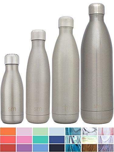 Simple Modern Wave Botella De Agua - Acero Inoxidable 18/8, Doble Pared y Aislamiento Al Cacío - 4 Tamaños, 26 Colores
