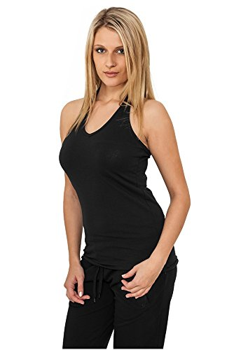 Urban Classics Damen Top Ladies Neckholder Shirt Black
