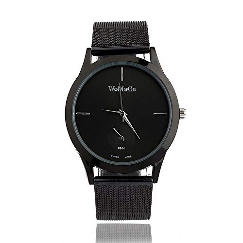 Bestow Reloj de Cintur¨®n de aleaci¨®n de Moda Reloj de Cuarzo de Estilo Minimalista Unisex Malla de Malla