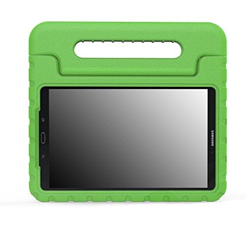 """MoKo Samsung Galaxy Tab A 10.1 Hülle - Superleicht EVA Stoßfest Kinderfreundlich Kinder Schutzhülle mit umwandelbarer Handgriff Handle/Standfunktion für Galaxy Tab A (2016) T580N 10.1"""" Tablet-PC, Grün"""