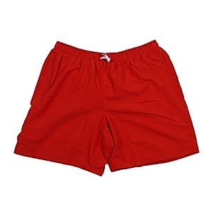 Badeshorts von Abraxas in großen Größen, uni red, Größe:10XL