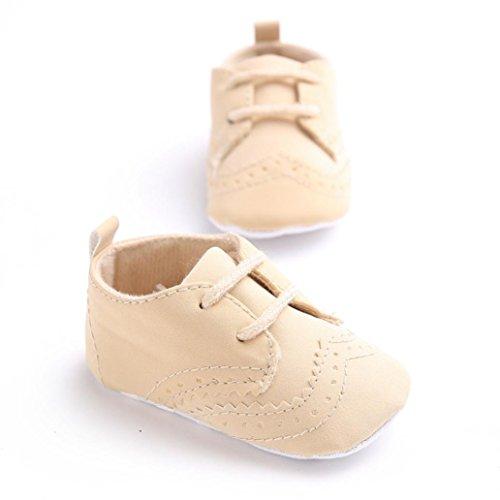 Babyschuhe Longra Bandage Single Baby Schuhe weiche Sohle Schuh weiche Schuhe Flats Krabbelschuhe Lauflernschuhe(0 ~ 18 Monate) Brown