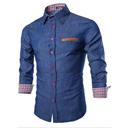 Monllack Casual Style Männer Herbst Langarm Umlegekragen Denim Shirts Modische Baumwolle Stil Männlichen Jeans Hemd Tops