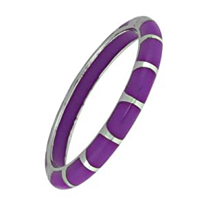 Angelique de Paris Neon Purple Lido Rhodium Plate Bracelet