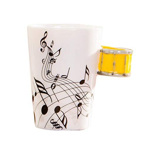 PeHtion Tazze Grandi Tazze da infusione Cappuccino Tazzine da caffè Strumento Musicale in Ceramica Regalo di Compleanno di Natale Innovativo