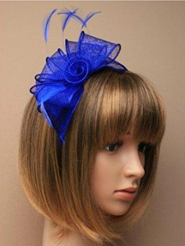 Allsorts Royal Blue Headband Aliceband Hat Fascinator Wedding Ladies Day Race Royal Ascot by Allsorts