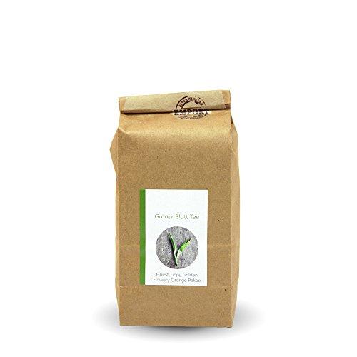 Grüner Blatt-Tee 250g aus zertifiziertem EM® Bio-Anbau aus Nepal / FTGFOP (Fine Tippy Golden Flowery Orange Pekoe) Goldenen Blättern