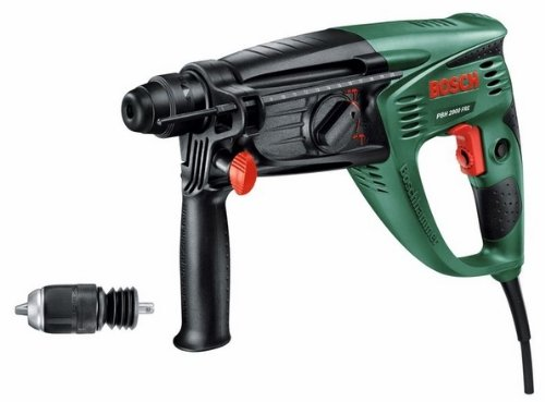 Preisvergleich Produktbild Bosch DIY Bohrhammer PBH 2900 FRE, Tiefenanschlag, Adapterbohrfutter, Zusazuhandgriff, Flachmeißel, Koffer (730 W, 2,7 J, max. Bohr-Ø Beton 26 mm)