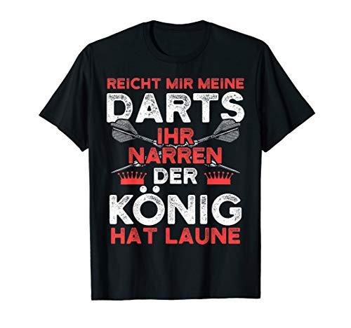 Herren Lustiges Dart T-Shirt I Reicht mir meine Darts König Laune (T-shirts Darts)