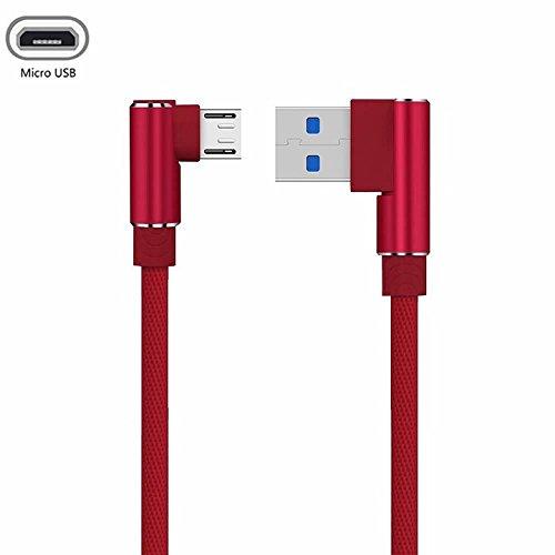 YANSHG USB Micro Kabel 90 Grad Doppelwinkel Geflochtene Daten Sync Schnelles Ladegerät USB Micro Kabel Für Samsung, XiaoMi, Huawei,LG, HTC, Nokia, Sony und mehr Android Micro Device(1M,2M,3M)