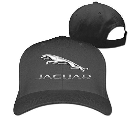 8c3e6deaf0a7a Hittings mkcook Unisex Jaguar Logo Snapback Caps Peaked Caps Béisbol Caps  Hats Black
