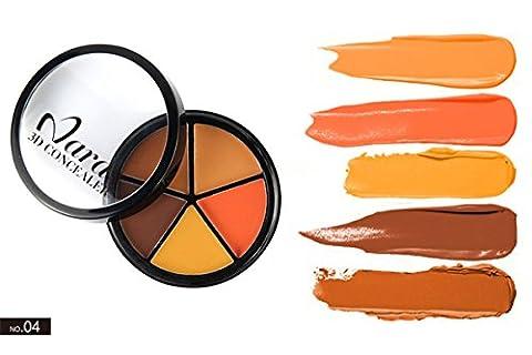 JasCherry Palette correcteur crème de camouflage 5 couleurs - cosmétique Camouflage Crème de Professionnelle Set Kit