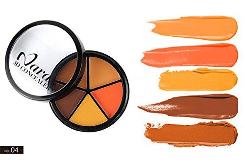 PhantomSky 5 Colori Correttore Cosmetico Camouflage Palette Trucco #4 - Perfetto per l'uso quotidiano e professionale