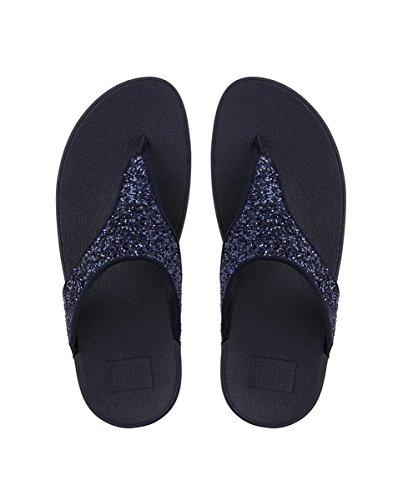Fitflop Women's Glitterball Post T-Strap Sandals, Blue (Midnight Navy), 3 UK 36 EU