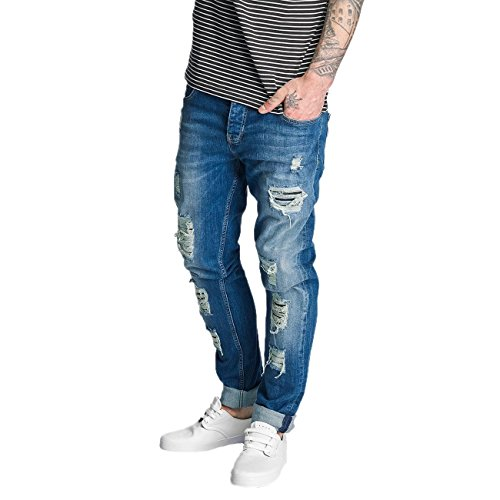 Bangastic Homme Jeans / Jeans Straight Fit Point Bleu