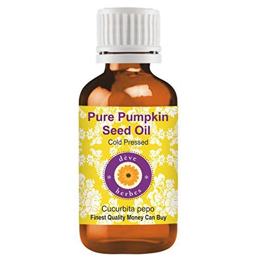 Deve Herbes reines Kürbiskernöl (Cucurbita pepo) 100% natürlicher therapeutischer Qualität kaltgepresst 100ml (Pack of 3) (10.1 oz)