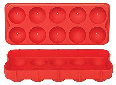 HIC Silicone Cannonball Ice Ball Mold Tray by Harold Import Company, Inc.