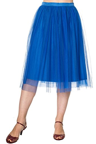 Dancing Days by Banned Tüll Rock FREEFALL SKIRT 2153 Blau