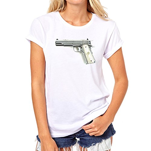 Bronze Stallion Special Edition Colt 45 Damen T-Shirt Weiß
