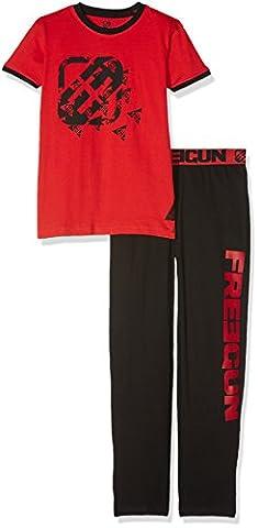 Freegun EG.Freetribu.PY.MZ, Ensemble de Pyjama Garçon, Rouge (Rouge/Noir), 16 Ans (Taille Fabricant: 16