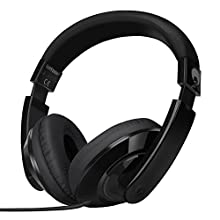 Rockpapa Comfort Over Ear Headphones Earphones for Kids Childs Boys Girls Adults, Tablet Computer Cellphones MP3/4 CD/DVD in Car/Airplant Black